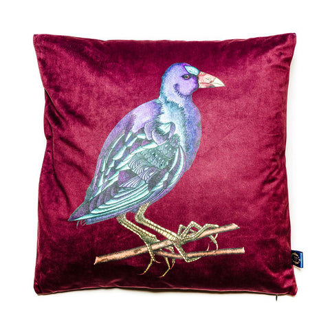 Gallinule Velvet Cushion