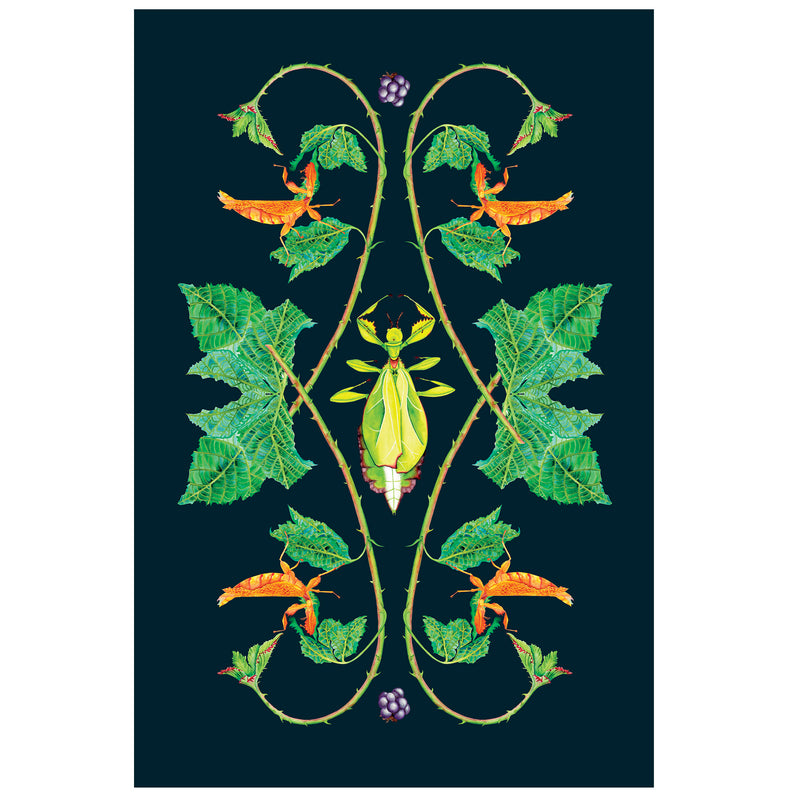 Leaf Insect Tea Towel