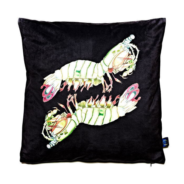 Mantis Shrimp Velvet Cushion