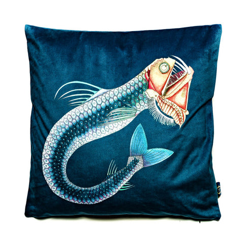 Viperfish Velvet Cushion