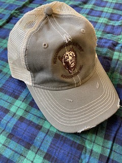 Net Hat With Black Bear and Wisconsin Bear Hunters Association Circle Logo