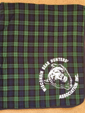 Flannel Blanket...Plaid blanket with original bear head logo