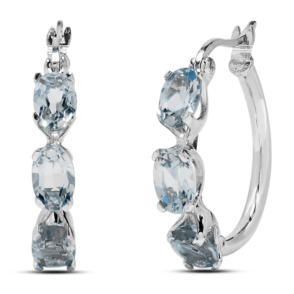 Silver Topaz Earrings