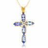 14k Yellow Gold Tanzanite Necklace/Pendants