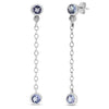 14k White Gold Tanzanite Earrings