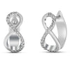 Silver Diamond Earrings