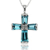 14k White Gold Topaz Necklace/Pendants