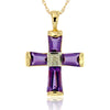 14k Yellow Gold Amethyst Necklace/Pendants