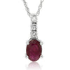 10k White Gold Ruby Necklace/Pendants