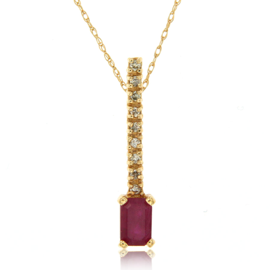14k Yellow Gold Ruby Necklace/Pendants