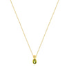 14k Yellow Gold Peridot Necklace/Pendants