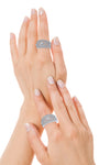 Silver Diamond Rings