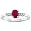 10k White Gold Ruby Rings