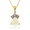 14k Yellow Gold Multi Gem Necklace/Pendants