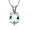 14k White Gold Aquamarine Necklace/Pendants