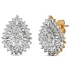 10k Two Tone Gold Diamond Earrings