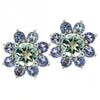 14k White Gold Multi Gem Earrings