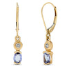 14k Yellow Gold Tanzanite Earrings