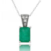 14k White Gold Emerald Necklace/Pendants