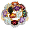 Silver Multi Gem Rings