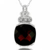 14k White Gold Garnet Necklace/Pendants