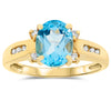 14k Yellow Gold Topaz Rings