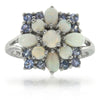 14k White Gold Multi Gem Rings