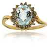 14k Yellow Gold Aquamarine Rings