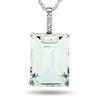 10k White Gold Green Amethyst Necklace/Pendants