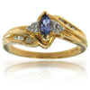 14k Yellow Gold Tanzanite Rings