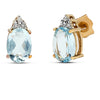 14k Yellow Gold Aquamarine Earrings