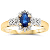 14k Yellow Gold Sapphire Rings