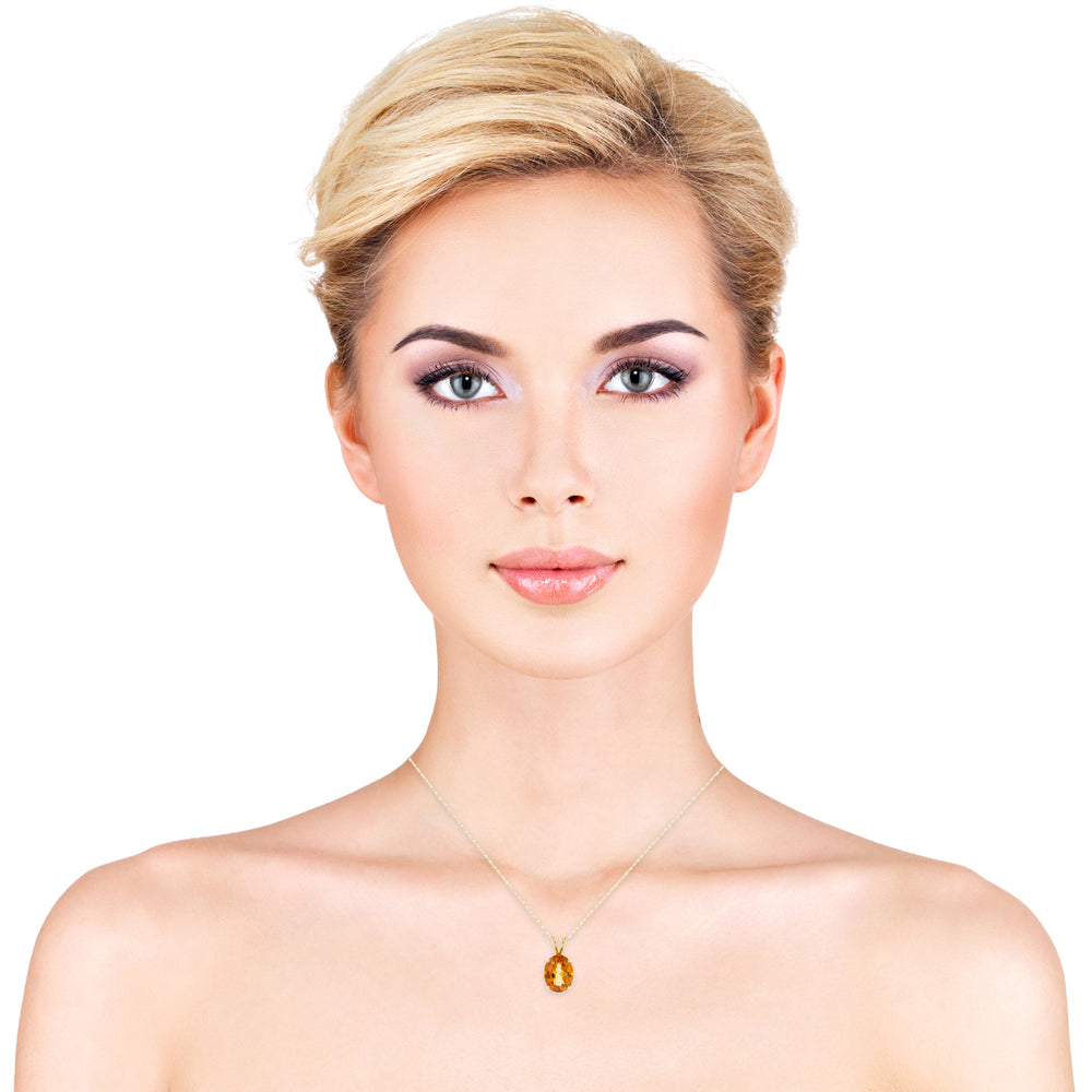 14k Yellow Gold Topaz Necklace/Pendants