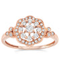 10k Rose Gold Diamond Rings