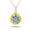 10k Two Tone Gold Diamond Necklace/Pendants