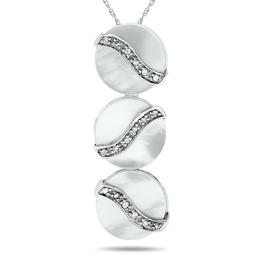 10k White Gold Mother of Pearl Necklace/Pendants