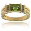 14k Yellow Gold Peridot Rings