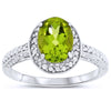 14k White Gold Peridot Rings