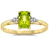 10k Yellow Gold Peridot Rings