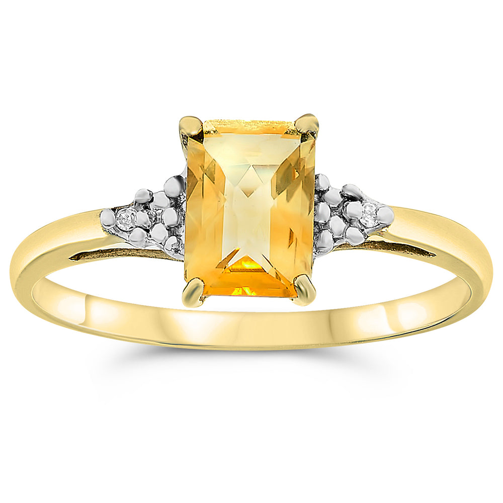 10k Yellow Gold Citrine Rings