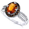 Silver Citrine Rings