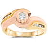 14k Two Tone Gold Diamond Rings