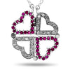 14k White Gold Ruby Necklace/Pendants