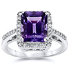 14k White Gold Amethyst Rings