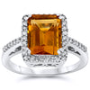 14k White Gold Citrine Rings
