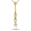14k Yellow Gold Diamond Necklace/Pendants