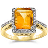 14k Yellow Gold Citrine Rings