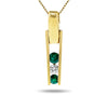 14k Yellow Gold Emerald Necklace/Pendants