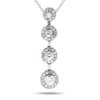 14k White Gold Diamond Necklace/Pendants