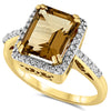 14k Yellow Gold Champange Quartz Rings